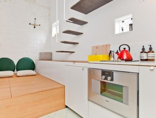 Packed in ... The single-storey property is just five metres across at its widest point. Picture: Zoopla