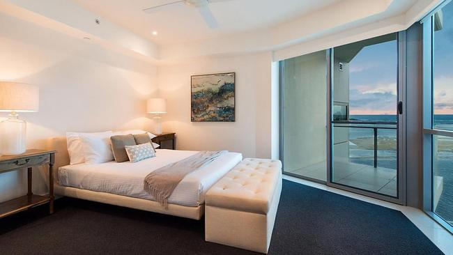One of the bedrooms at 1002/42 Duporth Ave, Maroochydore.