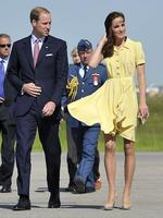 <p>Prince William and his wife Catherine tackled gusty conditions on their arrival in Calgary, Canada. Photo: Todd Karol, AFP</p>