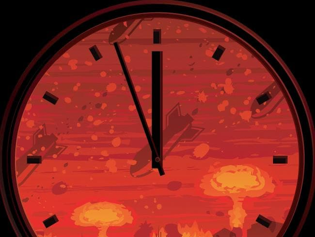 Will the clock move forward a minute — or two — or remain at three minutes to midnight (still not good)? Picture: Shutterstock