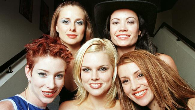 Bardot without Barry: Katie Underwood, Belinda Chapple, Sophie Monk, Tiffany Wood and Sally Polihronas.