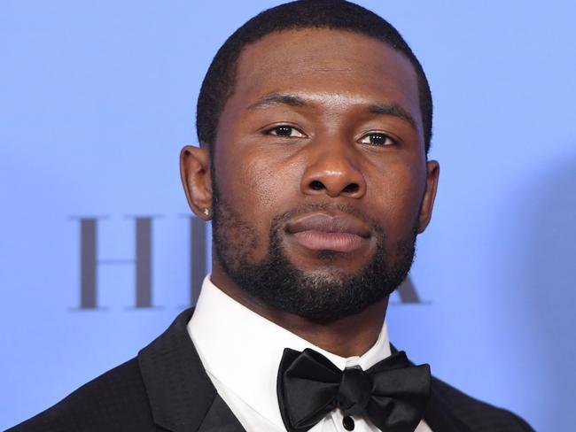 Trevante Rhodes in a rare photo that's not shirtless. Picture: AP
