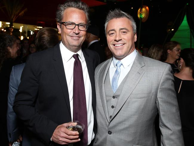 LeBlanc (right) with former Friends co-star Matthew Perry. Picture: Splash