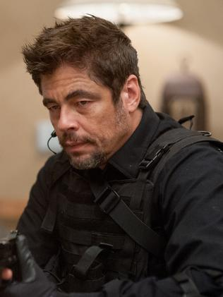 Benicio Del Toro in a scene from Sicario.