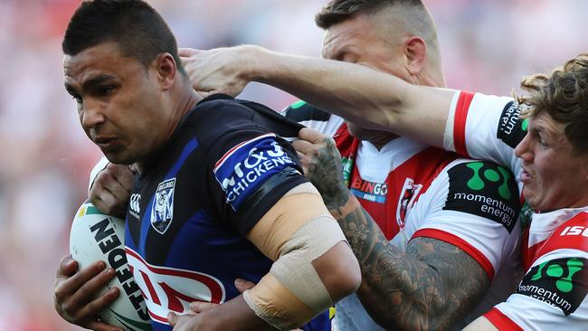The Dragons appear to have lost their grip on Michael Lichaa. Picture: Brett Costello