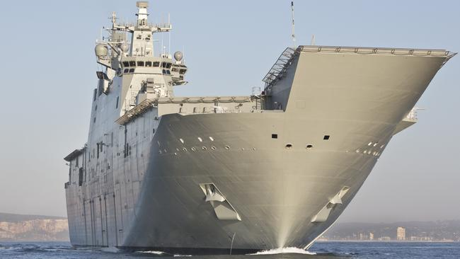 Big guns ... more new warships, vehicles and planes will be introduced into service..
