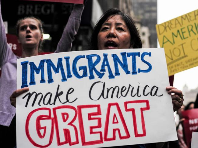 A rally in support of the Deferred Action for Childhood Arrivals (DACA), also known as Dream Act, near the Trump Tower in New York. Picture: AFP