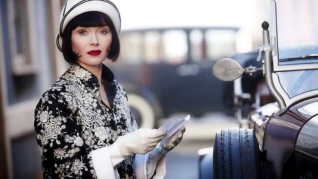 Essie Davis as Phryne Fisher in a scene from Miss Fisher's Murder Mysteries. Picture: ABC