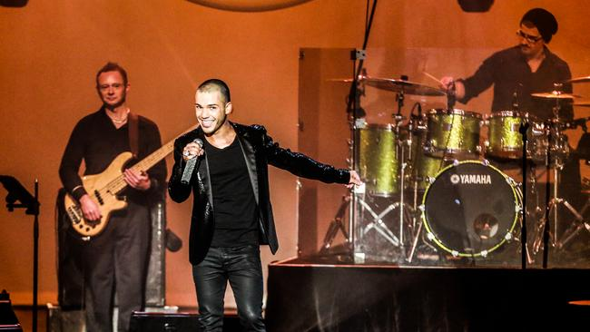 A real showman ... Anthony Callea recorded his concert of George Michael songs for his new CD and DVD release. Picture: APL Photography