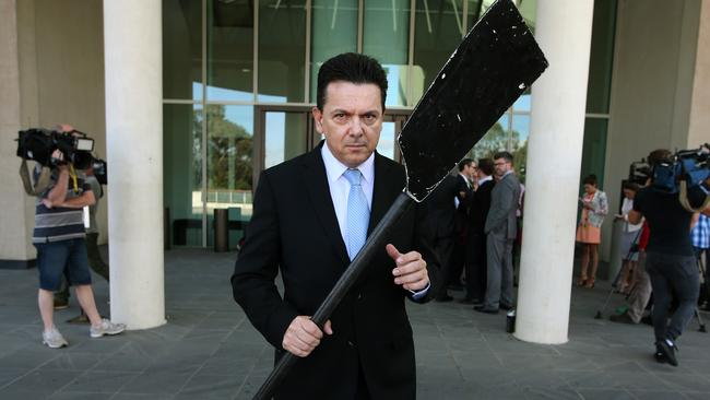 Stupid ... Independent Senator Nick Xenophon says the submarines debate is a shambles. Picture: Kym Smith/News Corp.