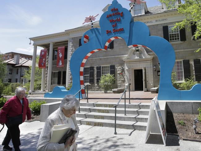 The entrance to The Amazing World of Dr Seuss Museum. Picture: AP/Steven Senne