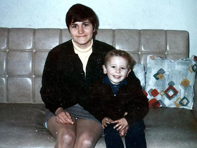 Maria James and her son Mark.