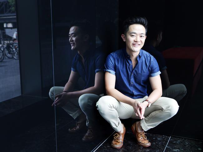 Colour TV ... Benjamin Law is the creator of The Family Law, a television series based on his first novel. Picture: Nowytarger Renee