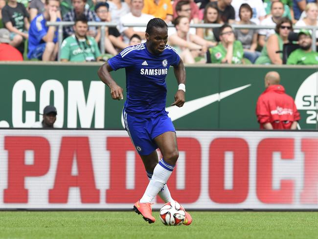 Didier Drogba during a friendly football match against Werder Bremenon on August 3, 2014 in Bremen. Picture: Tobias Schwarz