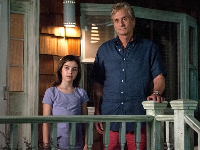 Oren Little (Douglas) is left looking after his granddaughter (Sterling Jerins) in the film. Picture: Supplied