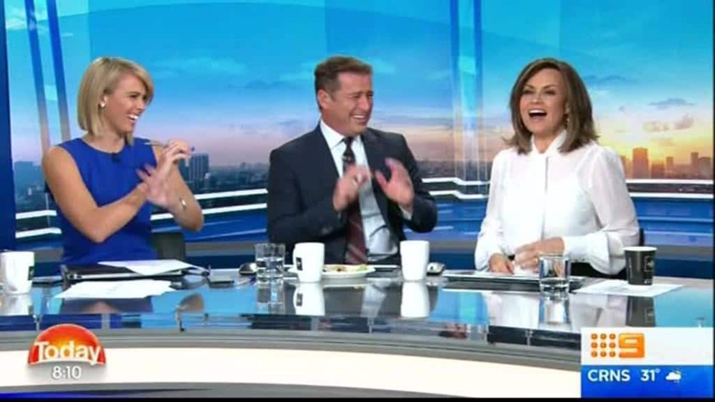 Today Show Karl Stefanovic Lisa Wilkinson Erupt In