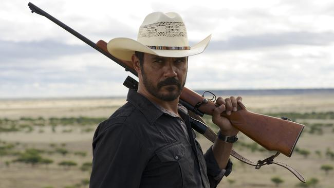 Triumphant return ... Aaron Pedersen's stoic indigenous cop from Mystery Road stumbles onto another tough case in Goldstone. (Supplied)