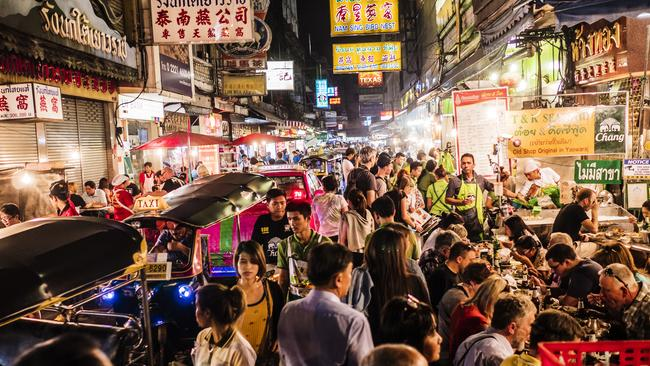 The fast-paced itinerary includes six days in the bustling streets of Bangkok.