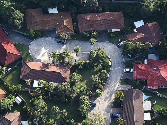 Aerial view of residential housing on the Gold Coast, Wednesday May 17, 2017. (AAP Image/Dave Hunt) NO ARCHIVING