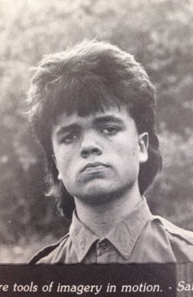 Peter Dinklage's 1987 high school yearbook photo with mullet. Picture: REDDIT