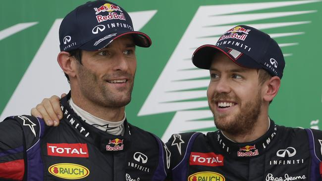 Vettel had the upper hand over Webber in their later seasons together.