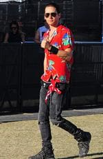 America Jared Leto was spotted walking around Caachella festival all by himself. Picture: BackGrid