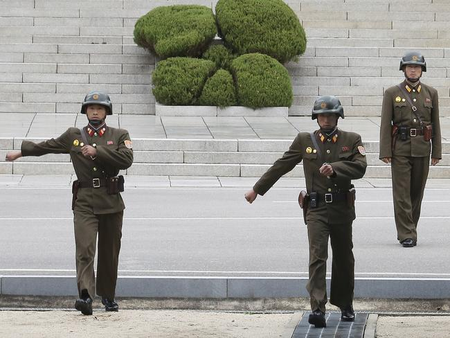 Four North Korean soldiers (not pictured) fired upon a comrade who fled for South Korea. Picture: AP/Ahn Young-joon