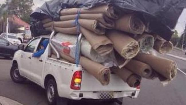 Top heavy ... don't overloaded your vehicle. Picture: NSW Police.