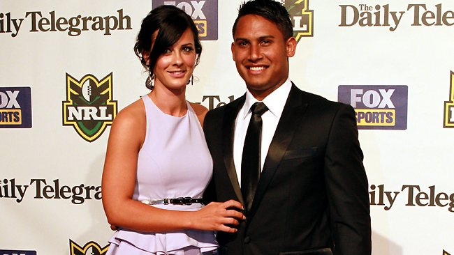 Ainslie Currie and Ben Barba at the 2012 Dally M Medal. Picture: Nic Gibson