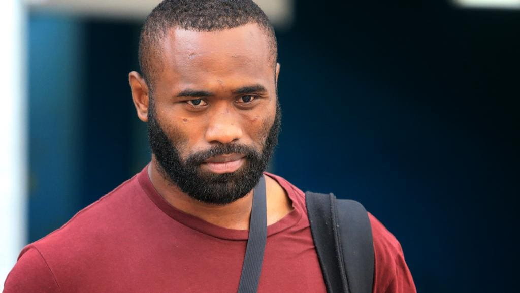 Semi Radradra arrives at Sydney airport after a trip to Fiji.