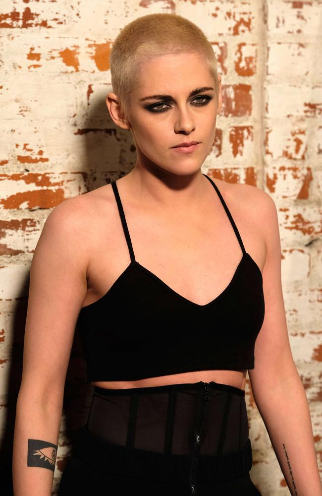 Stewart's bleached, shaved head is reportedly for her role in upcoming flick Underwater.
