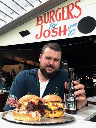Burgers by Josh and Young Henrys beer are on offer. Picture: Jenifer Jagielski