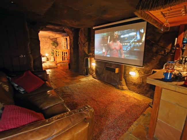 Man Cave Bars Melbourne : Waterfall wine cellar features of gowanbrae man cave in