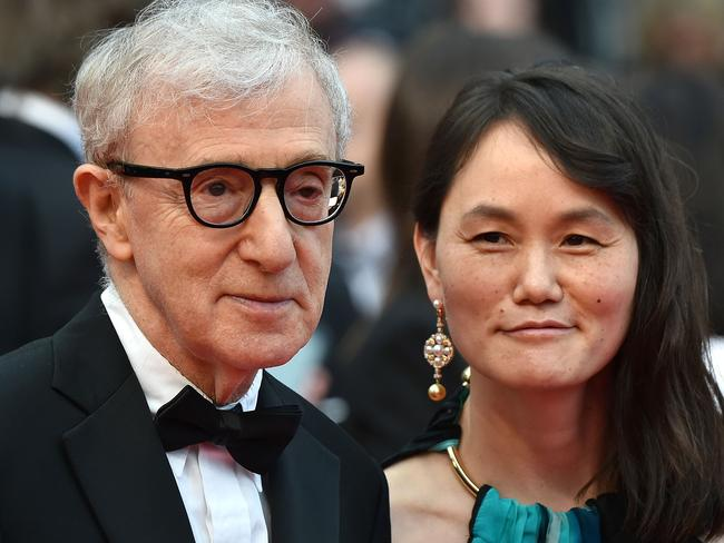 "Woody Allen (with his wife Soon-Yi Previn) said he wanted ""no ambiguity"" over his clarified statement on disgraced movie mogul, Harvey Weinstein. Picture: AFP/Alberto Pizzoli"