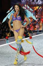 Adriana Lima walks the runway with Swarovski crystals during Victoria's Secret Fashion Show on November 30, 2016 in Paris, France. Picture: AP