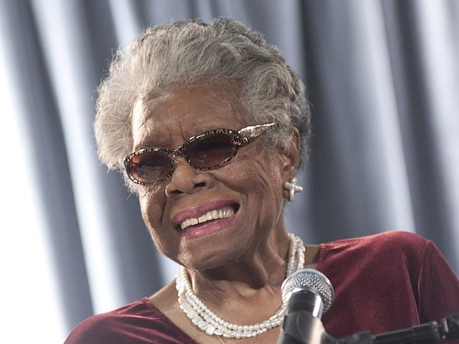 Angelou speaks during the AARP Magazine's 2011 Inspire Awards at Ronald Reagan Building i