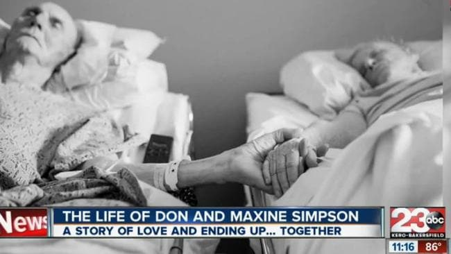 Together forever ... Don Simpson and his wife Maxine passed away within hours of each other.