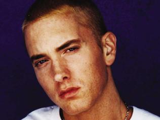 08/2002. Singer and rap artist Eminem, who plays himself during his acting debut in 2002 film '8 Mile'.