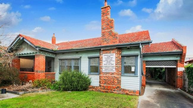 Most recently used as a medical centre, this house at 104 Gordon St, Footscray, is to be auctioned this weekend.