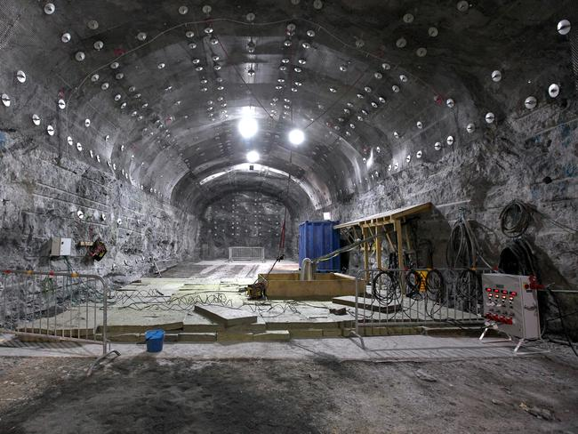 The massive storage facility will sit quietly underground with almost no signage to the world above. Picture: Posiva Oy