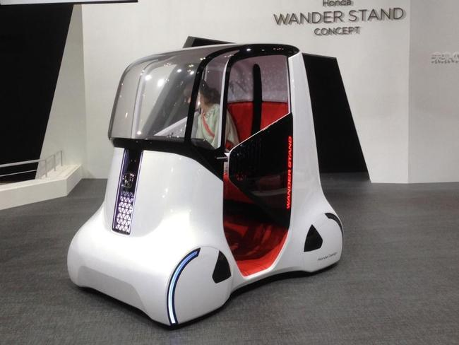 Honda Wander Stand ... A bit of a tight squeeze. Picture: Joshua Dowling.