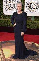 Jamie Lee Curtis arrives at the 73rd annual Golden Globe Awards on Sunday, Jan. 10, 2016, at the Beverly Hilton Hotel in Beverly Hills, Calif. Picture: Jordan Strauss/Invision/AP