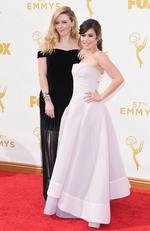 Natasha Lyonne and Yael Stone attend the 67th Annual Primetime Emmy Awards in Los Angeles. Picture: Getty