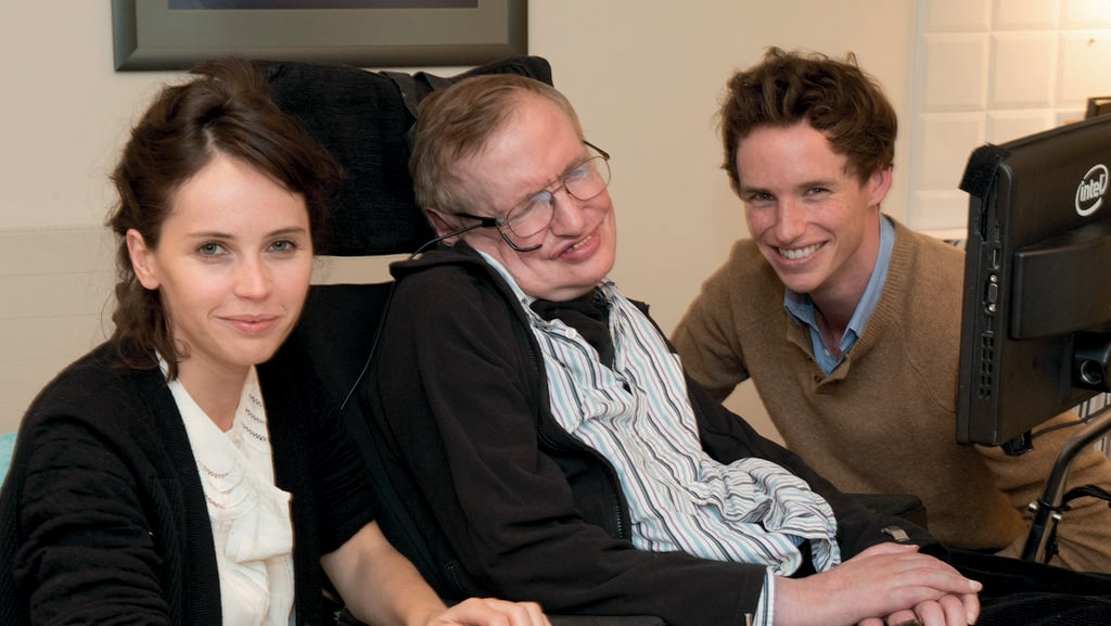 eddie redmayne stephen hawking. actors felicity jones and eddie redmayne meet physicist stephen hawking plays hawkingu0027s wife jane n