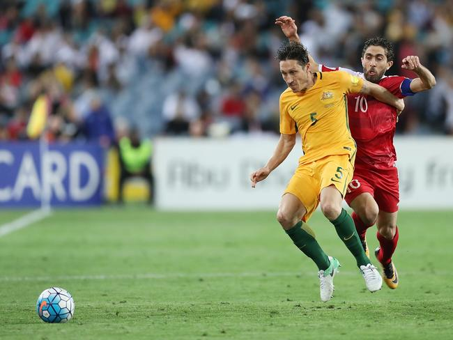 Mark Milligan will be missing from the Socceroos' next game. (Photo by Mark Metcalfe/Getty Images)