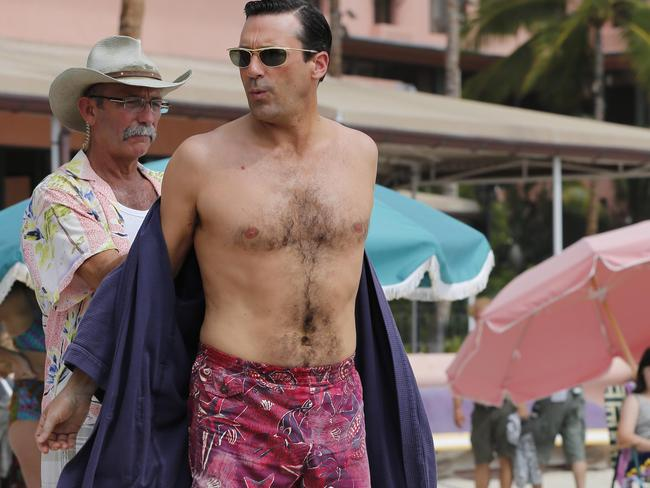 Jon Hamm's dad bod is actually pretty good. Picture: Splash News