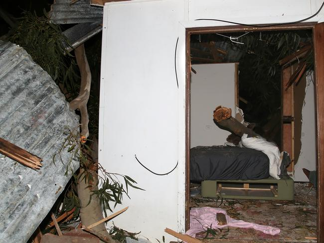 The structural integrity of the home will be assessed by experts today. Picture: Hamish Blair