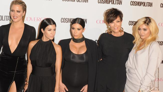 Girl power: Khloe Kardashian, Kourtney Kardashian, Kim Kardashian West, Kris Jenner and Kylie Jenner.