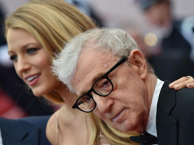 Woody Allen, with actress Blake Lively, in Cannes last year. Picture: AFP/Alberto Pizzoli