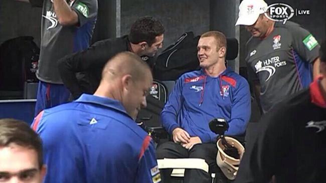 Alex McKinnon in the Newcastle sheds.